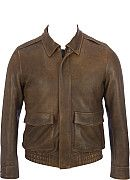 Wilsons Leather Distressed Leather Aviator Jacket - Wilsons Leather