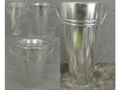 Galvanized Metal French Flower Bucket- Premium Series