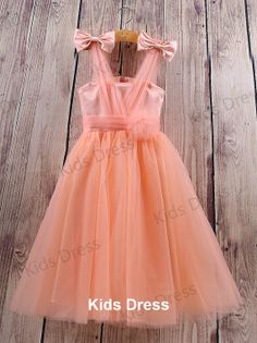 Aline Vneck Tulle Flower Girl Dress With Bowknot by kidsdress, $37.00 -maybe without those bows?