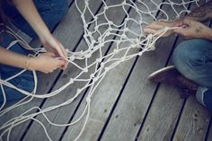 Know what would make your summer days even better?! A hammock made out of paracord. Use paracord as your rope in this awesome instructional guide from Kinfolk. http://www.kinfolk.com/how-to-make-a-hammock/