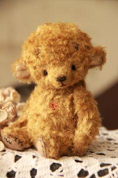 Artist teddy bear in vintage style cute little baby ooak by Eli Bichita мишка тедди Авторский Винтажный стиль