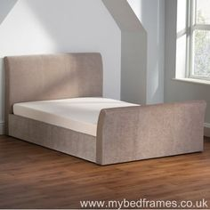 Sovereign #ottoman #bed frame upholstered in stone fabric