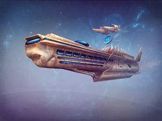 Spaceship by qi-art on DeviantArt