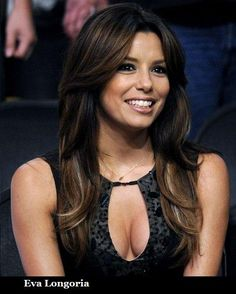 Eva Longoria Straight Hair with Layers and Highlights