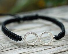 Infinity CZ Friendship Bracelet Bling Macrame Bangle Amy Fine Design