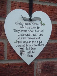 Shabby chic christmas in heaven what do by VintageSignBoutique