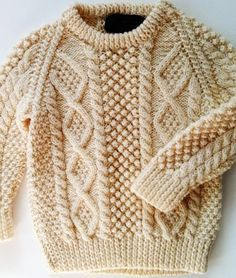 aran jumper traditional pattern from Baby Cardigan Knitting Pattern Free, Baby Boy Knitting Patterns, Baby Sweater Patterns, Knit Baby Sweaters, Aran Jumper, Knit Fashion, Fashion Women, Style Fashion, Fashion Design