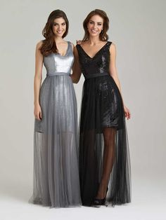 1470 Allure Bridesmaid Dress, This Bridesmaids Dress Is Sheer Glamour, Both Literally And Figuratively, With A Detachable Tulle Overskirt. Bridesmaid Dresses Long Blue, Grey Bridesmaids, Gold Prom Dresses, Sequin Bridesmaid Dresses, Wedding Dresses, Dresses 2016, Prom Gowns, Party Dresses, Evening Gowns
