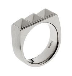 Hanna K Design, Pyramidi white gold ring. #Finland