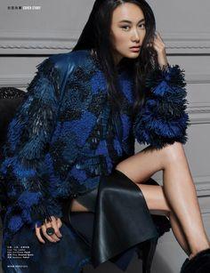 fashiongonerogue: Shu Pei Models in YUE Winter 2014 Cover Story All Things Beautiful–Chinese model Shu Pei Qin lands the winter 2014 cover ...
