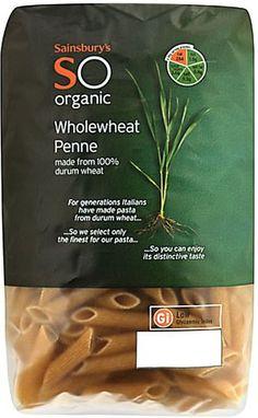 Sainsbury's Organic Wholewheat Penne (500g)