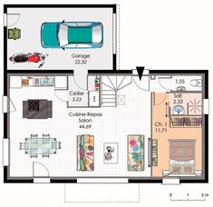 plan appartement duplex 100m2