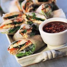 spring rolls are just so refreshing and very versatile and the great thing is--- they're so healthy!!