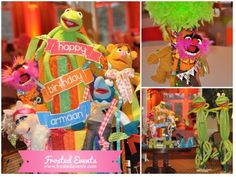 Muppet Mania! Muppet themed birthday party by Frosted Events www.frostedevents.com   Kids party ideas   #kidspartyideas #birthday party #firstbirthday @Disney