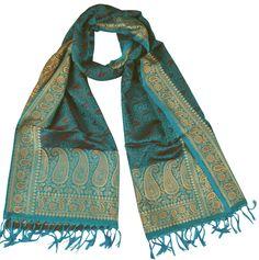 padmera MUGHAL SPLENDOR - Benares silk scarf in perfection http://www.padmera.de/seide-33339345/