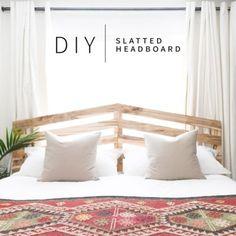 $70 DIY Slatted Headboard