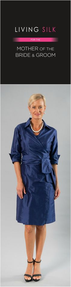 Living Silk - specializing in pure silk dresses and two piece outfits with sleeves for the modern and elegant mother of the bride and mother of the groom for a beach, boho, garden, rustic, country, cocktail or formal wedding in Spring/ Summer or Fall/ Winter | Mother of the Bride / Groom Dresses #livingsilk #motherofthebridedresses #motherofthegroomdresses #celebrateinsilk #puresilk Formal Wedding, Summer Wedding, Summer Mother Of The Bride Dresses, Silk Dress, Wrap Dress, Bride Groom Dress, Two Piece Outfit, Pure Silk, Fall Winter