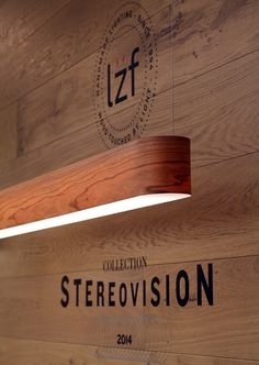 LZF Lamps | I-Club, Slim Suspension Lamp. Light + Building 2014 | Wood touched by Light | Handmade Wood Lighting since 1994