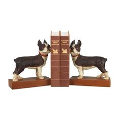 Pair Boston Terrier Bookends Sterling Industries Bookends Bookends Home Decor