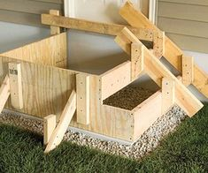 We'll walk you through the complete step-by-step process for laying out, designing, and building concrete steps. Building Deck Steps, Building Stairs, Shed Building Plans, Shed Plans, Concrete Projects, Diy Pallet Projects, Plastic Sheds, Concrete Stairs, Concrete Pad