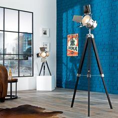 Stojací lampa Stars 95-140cm černá chrom