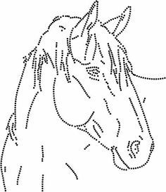 T T horse head Tulip Painting, Dot Art Painting, Paper Embroidery, Embroidery Patterns, Stitch Patterns, Punched Tin Patterns, Horse Template, Horse Stencil, Horse Cards
