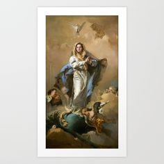 Buy The Immaculate Conception by Giovanni Battista Tiepolo (c 1768) Art Print by thearts. Worldwide shipping available at Society6.com. Just one of millions of high quality products available.