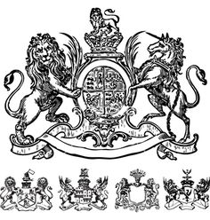 Victorian lion crest on VectorStock