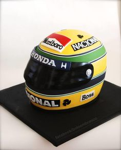 Ayrton Senna's helmet replica