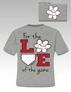 FOR THE LOVE OF THE GAME BASEBALL TEE MADE BY SASSY FRASS