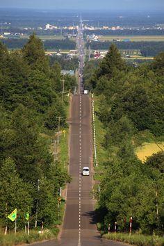 天に続く道 北海道 絶景 Hokkaido