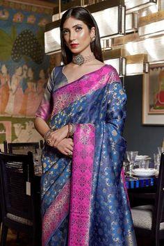 South Silk Sarees, Silk Sarees With Price, Kanjivaram Sarees, Freezing Cold, Saree Look, Wedding Sutra, Traditional Sarees, Varanasi, Designer Sarees