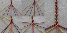 Tablet Weaving, Crafty Kids, Macrame, Knots, Scandinavian, Sewing, Diy, Crafts, Color