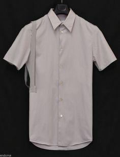 9681e5296006 Helmut Lang 2004 Slim Short-Sleeve Shirt with Asymmetric Bondage Straps