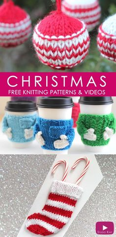 Christmas Knitting Projects with Studio Knit | Free Patterns and Video Tutorials
