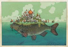 Illustrations by Jared Muralt | Inspiration Grid | Design Inspiration