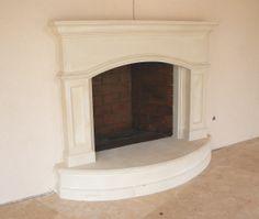 Cast stone Limestone Fireplace by Classic Stone Creations (Charlotte, NC)