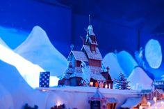 Pepperkakebyen gingerbread village, Bergen, Norway.