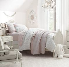 RH baby&child's Adele Bed:Designed with graceful curves, carved cabriole legs and woven cane panels, Adele has a traditional French design aesthetic.