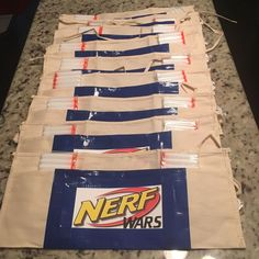 Nerf Wars Birthday Party Apron Darts Safety Glasses Favors Lot. 14 Sets. #NERF