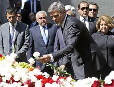 Clooney joins Armenians to mark anniversary of massacre