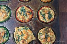 Sweet Potato and Spinach Egg Muffins for 50 calories each