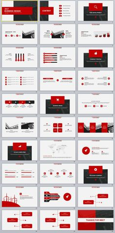 30+ Red multipurpose PowerPoint templates