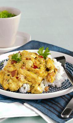 Kanakastike | Maku Finnish Recipes, Butter Chicken, Garam Masala, Food Inspiration, Love Food, Cauliflower, Macaroni And Cheese, Curry, Food And Drink