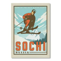 "East Urban Home Sochi Vintage Advertisement Size: 16"" H x 12"" W"