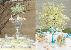 Centro de Mesa Vintage. Candelabro. @Floristería loto Wedding Loto floristería !