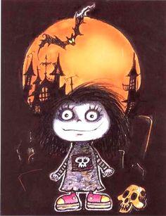 Creepy cool doll cartoon by Pilar Gothic rag doll and wonderland