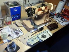 The Vintage Singer Sewing Machine Blog: A Singer 401a and Greasy Terminal Prongs