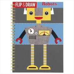 Mudpuppy kleurboek flip and draw robots