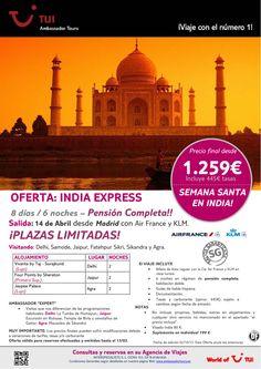 ¡Semana Santa INDIA Express! ¡Salida Garantizada desde Madrid! Precio final desde 1.259€ - http://zocotours.com/semana-santa-india-express-salida-garantizada-desde-madrid-precio-final-desde-1-259e-3/